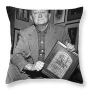 Ty Cobb (1886-1961) Throw Pillow by Granger
