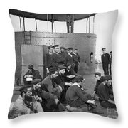 U.s.s. Monitor, 1862 Throw Pillow