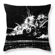 Uss Shaw, Pearl Harbor, December 7, 1941 Throw Pillow