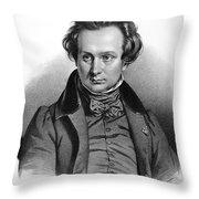 Victor Hugo (1802-1885) Throw Pillow