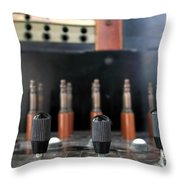 Vintage Telephone Switchboard Throw Pillow