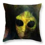 Visitor Throw Pillow by Shirley Sirois