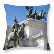 Vittoriano. Monument To Victor Emmanuel II. Rome Throw Pillow