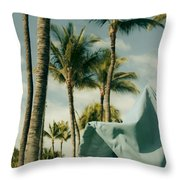 Wailea Beach Maui Hawaii Throw Pillow