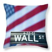 Wall Street Flag Throw Pillow