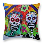 Wedding Dia De Los Muertos Throw Pillow