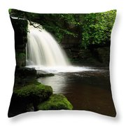 West Burton Falls In Wensleydale Throw Pillow