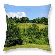 West Virginia Farm Throw Pillow