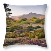 Wildflowers At Sossusvlei Throw Pillow