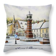 Winter In Twyn Square Throw Pillow