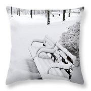 Winter Park Throw Pillow by Elena Elisseeva