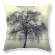 Winter Tree Throw Pillow by Joana Kruse