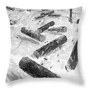 Wisconsin: Lumbering, 1885 Throw Pillow