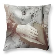 Woman With A Book Throw Pillow