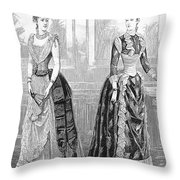 Womens Fashion, 1889. For Licensing Requests Visit Granger.com Throw Pillow