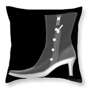 X-ray Of A Dress Boot Throw Pillow