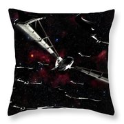 Xeelee Nightfighters, Inspired Throw Pillow by Rhys Taylor