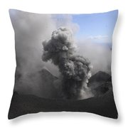 Yasur Eruption, Tanna Island, Vanuatu Throw Pillow