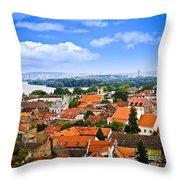 Zemun Rooftops In Belgrade Throw Pillow