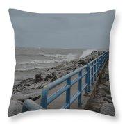 Hurricane Sandy Throw Pillow