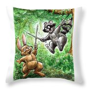 20 - Jennings State Forest - Sword Play Throw Pillow