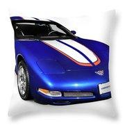 2004 Chevrolet Corvette C5 Throw Pillow