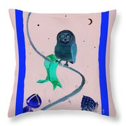 2008 Owl Negative Throw Pillow by Lilibeth Andre