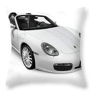 2008 Porsche Boxster S Sports Car Throw Pillow