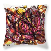 2010 Abstract Drawing 24 Throw Pillow