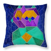 2010 Cubist Owl Negative Throw Pillow by Lilibeth Andre