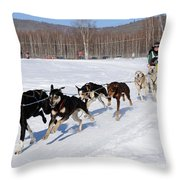 2010 Limited North American Sled Dog Race Throw Pillow