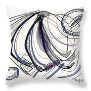 2012 Drawing #17 Throw Pillow