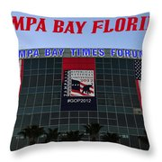2012 Gop Convention Site Throw Pillow