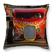 2012 Grants Pass Cruise - Hot Rod Rules Throw Pillow