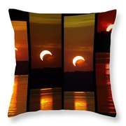 2012 Solar Eclipse Throw Pillow by Elizabeth Hart