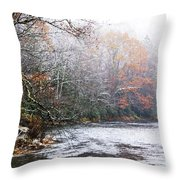 Autumn Snow Monongahela National Forest Throw Pillow