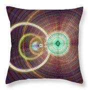 Circle Art Throw Pillow