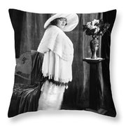 Silent Film Still: Woman Throw Pillow