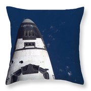 Space Shuttle Discovery Throw Pillow by Nasa