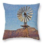 Water Pump Windmill Throw Pillow