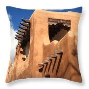 Santa Fe - Adobe Building Throw Pillow