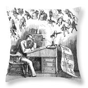Charles Dickens (1812-1870) Throw Pillow