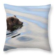 Grizzly Bear Ursus Arctos Horribilis Throw Pillow