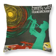 24 Hours Of Spa - Francorchamps Throw Pillow