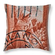 25 Lire Italian Stamp - Milano Cancelled Throw Pillow