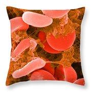 Red Blood Cells, Sem Throw Pillow