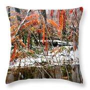 Autumn Snow Monongahela National Forest Throw Pillow