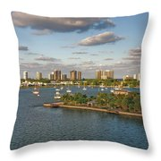 27- Singer Island Skyline Throw Pillow