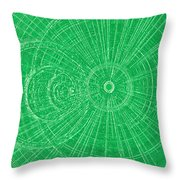 Circle Art Throw Pillow