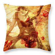 Winsome Woman Throw Pillow